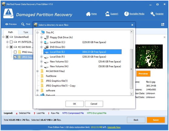 Free Recover Data from RAW Partition in Windows 7/8/10